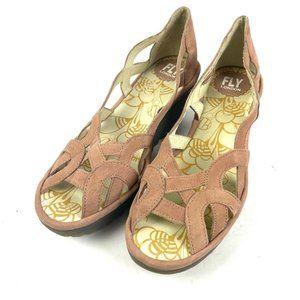 Fly London Yadi Wedge Sandals Womens 39 Rose